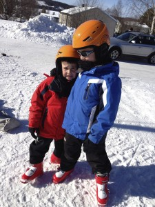 These two love to ski!